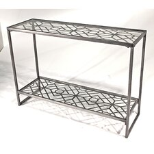 <strong>Vita V Home</strong> Metal Filigree Console Table