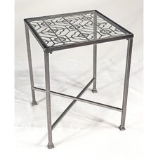 Metal Filigree End Table