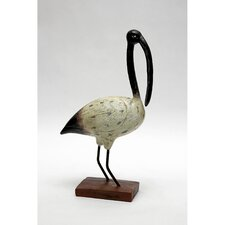 Shore Bird Black Beak Ibis Resin Statue