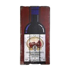 Bordeaux Wine Bottle Plaque Wall Art