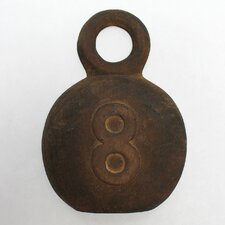 Decorative Fishing Number 8 Metal Weight