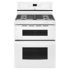 Gold Double Oven Freestanding Gas Range