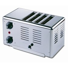 Premier 4 Slice Bread Toaster in Polished Stainless Steel