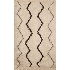 Berber White/Brown Moroccan Rug