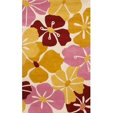 <strong>Abacasa</strong> Abacasa Kids Petals Gold/Pink/Red Area Rug
