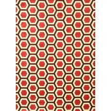 Sonoma Cranberry Honeycomb Rug