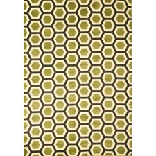 Sonoma Apple Green Honeycomb Rug