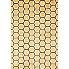 Sonoma Tangerine Honeycomb Rug