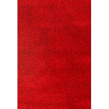 Comfort Shag Red Area Rug