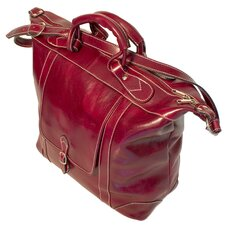 "16"" Tack Leather Travel Duffel"