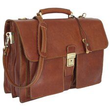 <strong>Floto Imports</strong> Novella Leather Laptop Briefcase