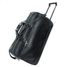 "Milano 21"" Leather 2-Wheeled Travel Duffel"