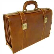 Trastevere Leather Laptop Briefcase