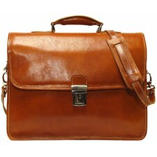 Cortona Leather Laptop Briefcase
