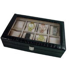 Classic Leather 8-Slot Watch Display Case