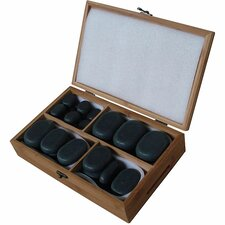 36 Piece Basalt Lava High Polish Hot Stone Massage Kit (Set of 36)