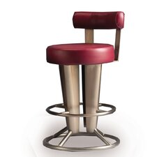 "Saturne 30"" Swivel Bar Stool with Cushion"