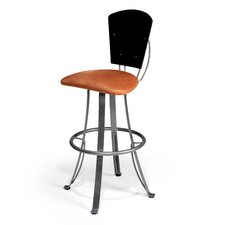 "Kim 30"" Swivel Bar Stool with Cushion"