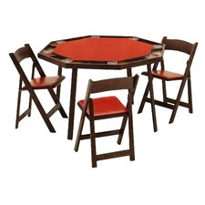 "<strong>Kestell Furniture</strong> 52"" Oak Folding Poker Table Set"