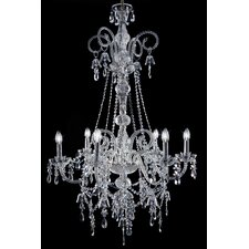 Arabesque 6 Light Crystal Chandelier
