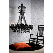 Byblos 24 Light Crystal Chandelier