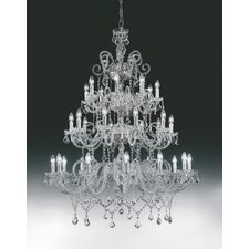 <strong>Cristalstrass Murano & Crystal</strong> Erika 30 Light Crystal Chandelier