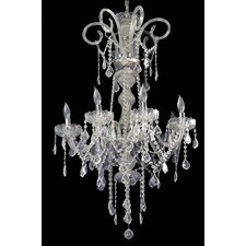Hollywood 8 Light Crystal Chandelier