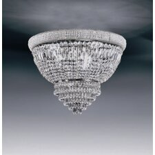 Osaka 4 Light Crystal Flush Mount