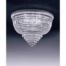Osaka 8 Light Crystal Flush Mount
