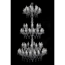 Queen Flower 72 Light Crystal Chandelier