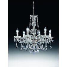 Serenade 6 Light Crystal Chandelier