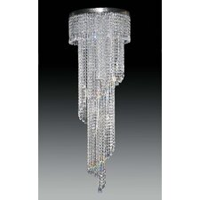 Twister 12 Light Crystal Flush Mount