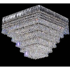 Cheops Crystal 3 Light Flush Mount