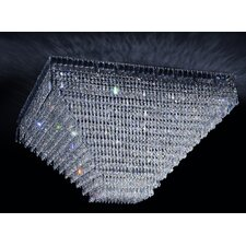 Cheops Crystal 10 Light Flush Mount