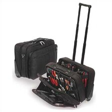 "W600 Black Wheeled Tool and Laptop Zipper Case: 9"" H x 18"" W x 13"" D"