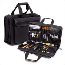 "<strong>CH Ellis</strong> Z140 Black Double Zipper Tool Case: 5 1/2"" H x 18 1/2"" W x 11"" D"