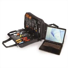 "Z190 Black Double Zipper Tool/Laptop Case: 6"" H x 16"" W x 12"" D"