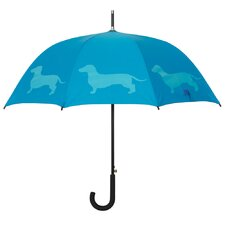 Dog Park Dachshund Walking Silhouette Stick Umbrella
