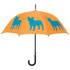 Dog Park French Bulldog Silhouette Walking Stick Umbrella