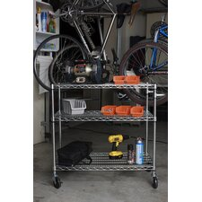 <strong>Trinity</strong> EcoStorage™ 3 Tier NSF Chrome Cart