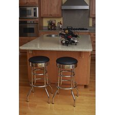 "29"" Chrome Swivel Barstool (Assembled)"