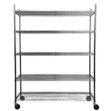 "NSF Extra Large Commercial Grade 77"" H 5 Shelf Shelving Unit Starter"