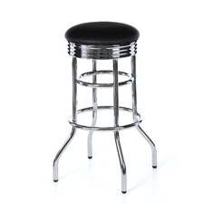 "29"" Chrome Swivel Barstool"