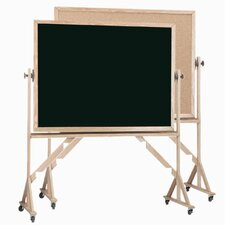 <strong>AARCO</strong> Reversible Free Standing Combination Board with Chalk Board and Bulletin Board