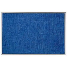 Designer Blue Fabric Bulletin Board with Aluminum Frame