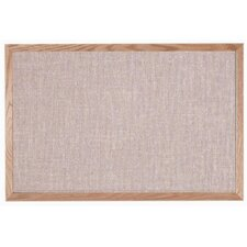 Designer Quartz Fabric Bulletin Board with Wood Frame