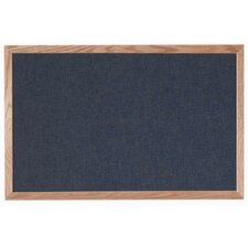 Designer Black Fabric Bulletin Board with Wood Frame
