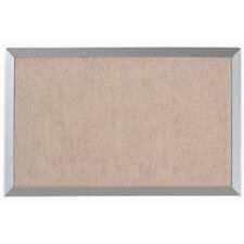 Burlap Weave Bulletin Board with Aluminum Frame in Sand