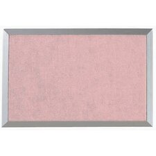 Burlap Weave Bulletin Board with Aluminum Frame in Rose Mauve