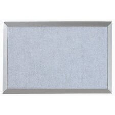 Burlap Weave Bulletin Board with Aluminum Frame in Denim
